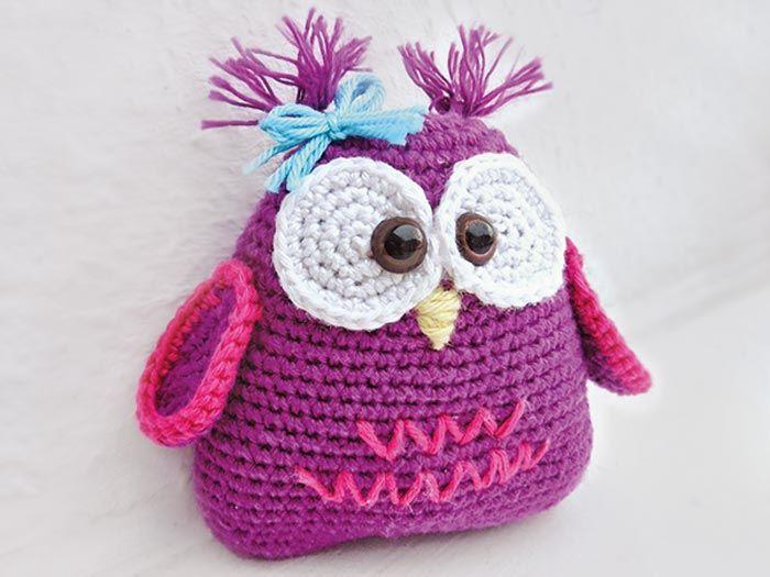 Marina du blog n'arrive plus à se passer des #hiboux. Elle a donc ressorti son outil préféré : l'aiguille à #crochet et réalisé un petit #doudou super mignon en forme de hibou. #owl