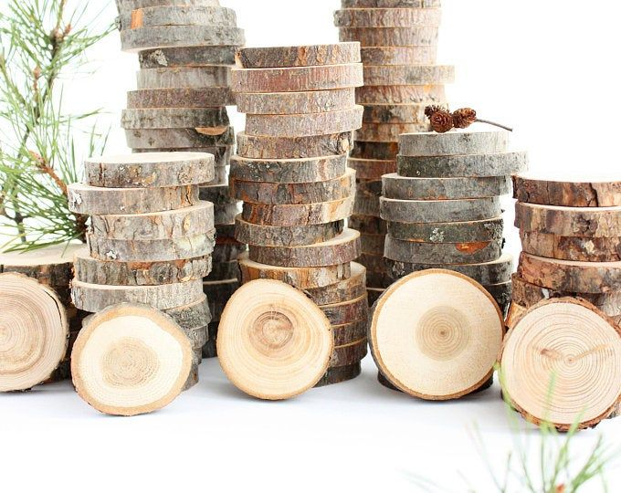 100 Discount Woodslices Assorted Pack Of Wood Slices Tree Slices Branch Slices Bulk Wood Slices Wood Rounds 100 Wood Slice Seconds In 2020 Wooden Slices Wood Slice Decor Wood Slices