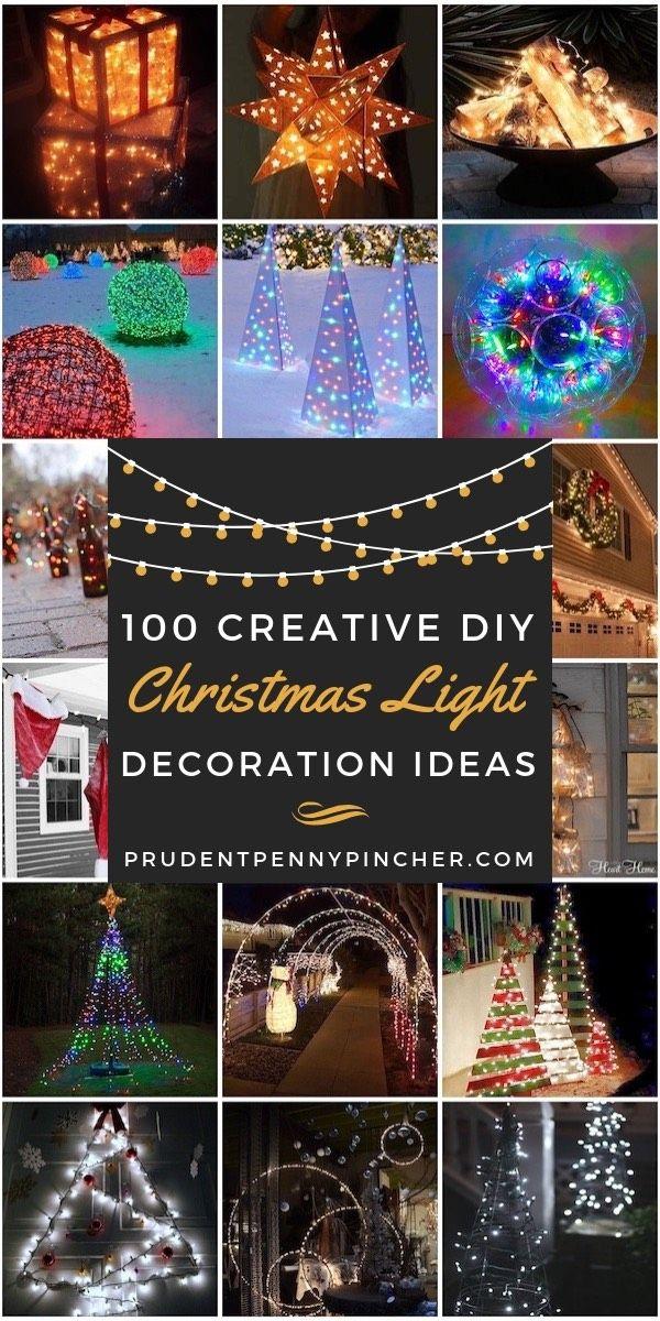 100 Creative DIY Christmas Light Decoration Ideas Yards