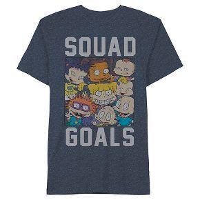 Men's Rugrats Squad Goals T-Shirt Blue