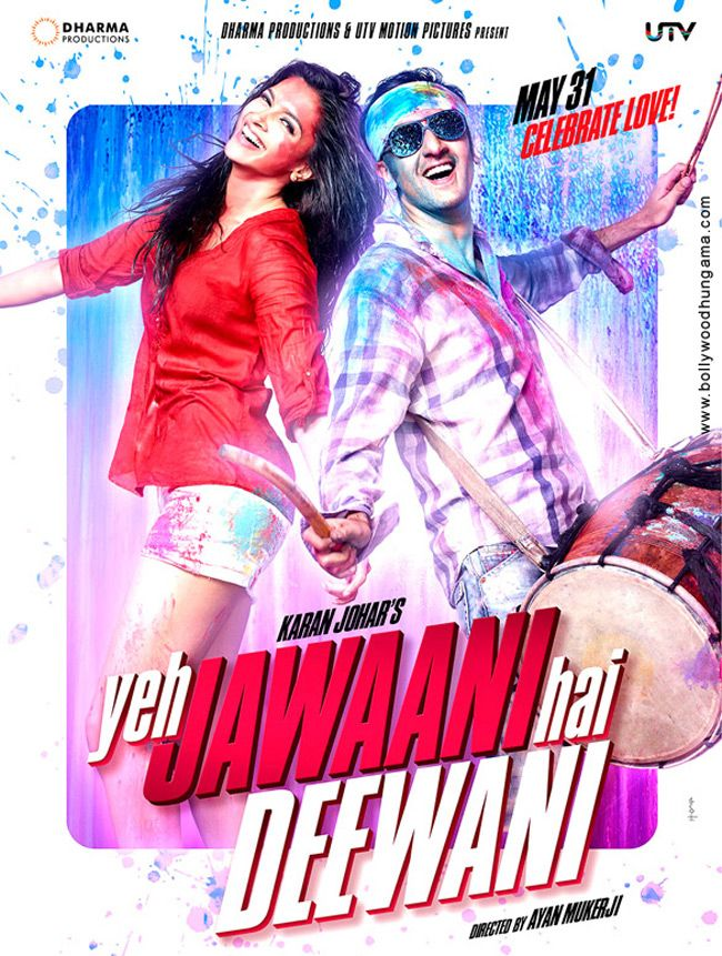 "Ranbir Kapoor and Deepika Padukone in pictures from their new film ""Yeh Jawani Diwani"""