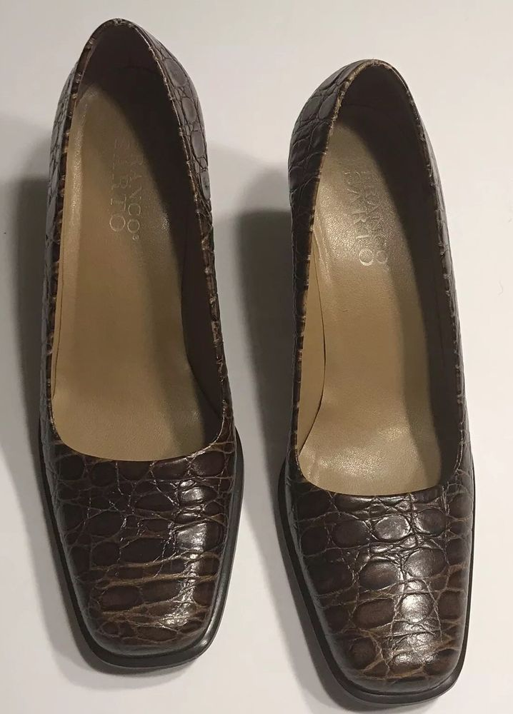 ee6ff2b6df131 Franco Sarto Women Size 7.5 Slip On Loafers Shoes Croc Leather Block Heel   fashion  clothing  shoes  accessories  womensshoes  heels (ebay link)