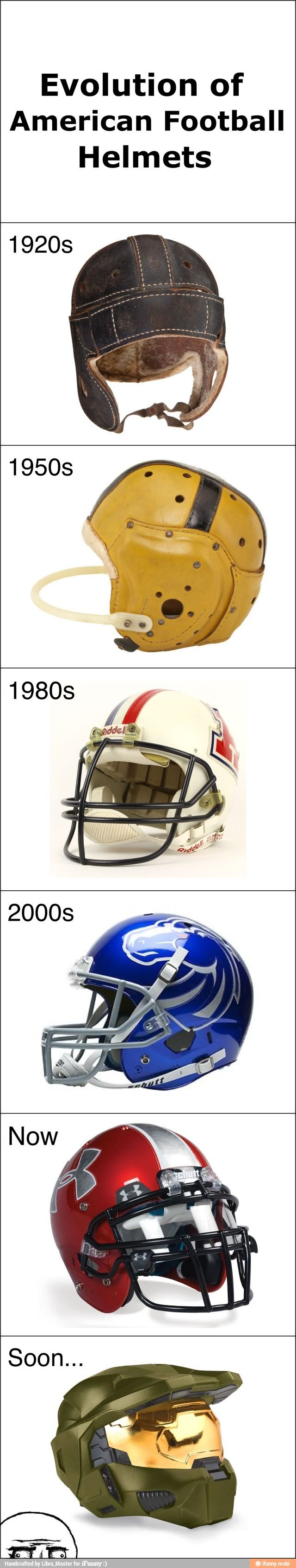 evolution on football helmet St louis/los angeles/cleveland rams: 1946-1949: the first nfl football helmet with a logo or design created by la rams halfback fred gerhke in 1946, who was trained in art the original leather helmets were hand-painted by gerhke, who played for the rams in cleveland in 1940 & 1945, and in la from 1946-1949.