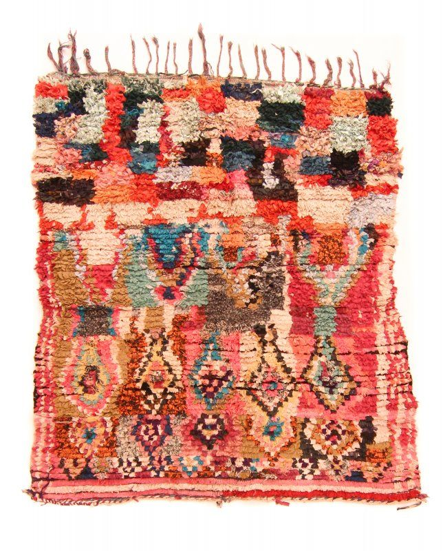 Marokkaanse Berber tapijt Boucherouite