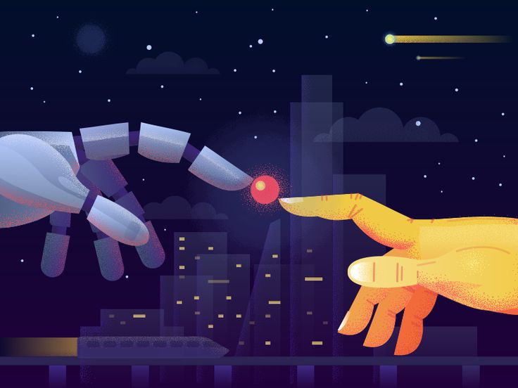 Hi guys!    Want to share with you an illustration, dedicated to artificial intelligence.     Some scientists believe that real artificial intelligence will be created in 2030, others think it will hap...