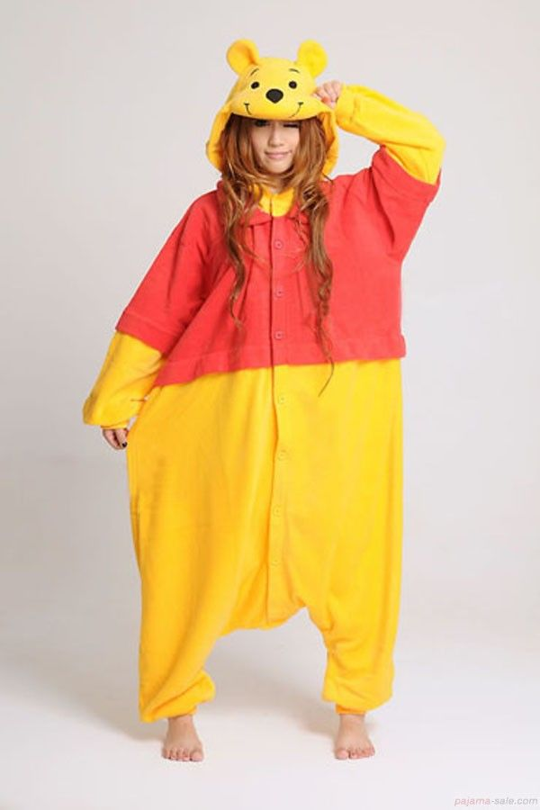 Animal onesies for adults, Winnie the Pooh Adult Kigurumi Animal costumes, cute…