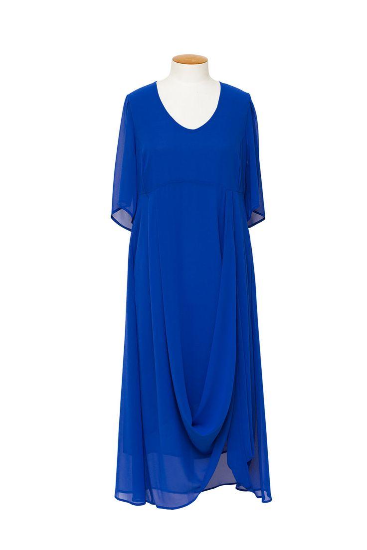 Magazine Designer Clothing - Chocolat Enchantment Blue Bell Sleeve Dress