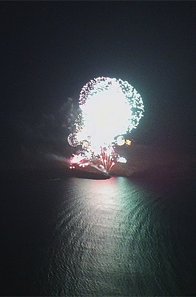 """Tholos Resort Hotel Santorini - From """"Ifesteia"""" festival 2012 in Santorini that took place on Sunday, 19th of August. A representation of the eruption of the volcano with fireworks!!!"""