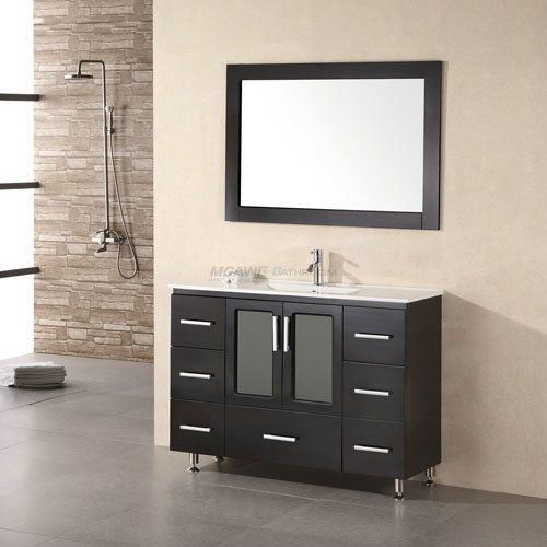 Hangzhou MGAWE Sanitary Ware Co.,Ltd provide the reliable quality 48 inch black bathroom vanity and 48 black bathroom vanity and 48 bathroom vanity with CE,SASO,Cupc approved.