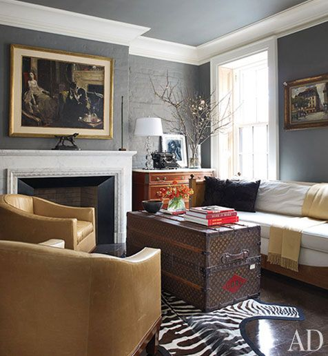 An Exclusive Look at Brooke Shields's Manhattan Home  The actress collaborates with decorator David Flint Wood on a New York townhouse redolent with family memories  Text by Judith Thurman/Photography by William Waldron   Produced by Howard Christian