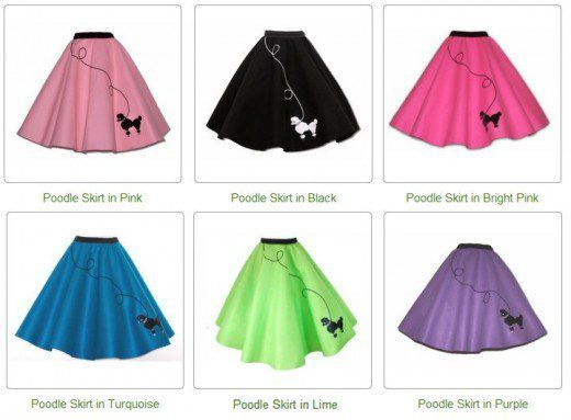 How to make a poodle skirt for Thrift Shop Sock Hop                                                                                                                                                     More