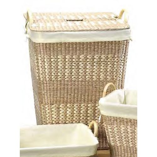 Use this beautiful Woven Laundry Hamper with Lid removable linen lining and carrying handles to add a touch of elegance to your laundry routine.