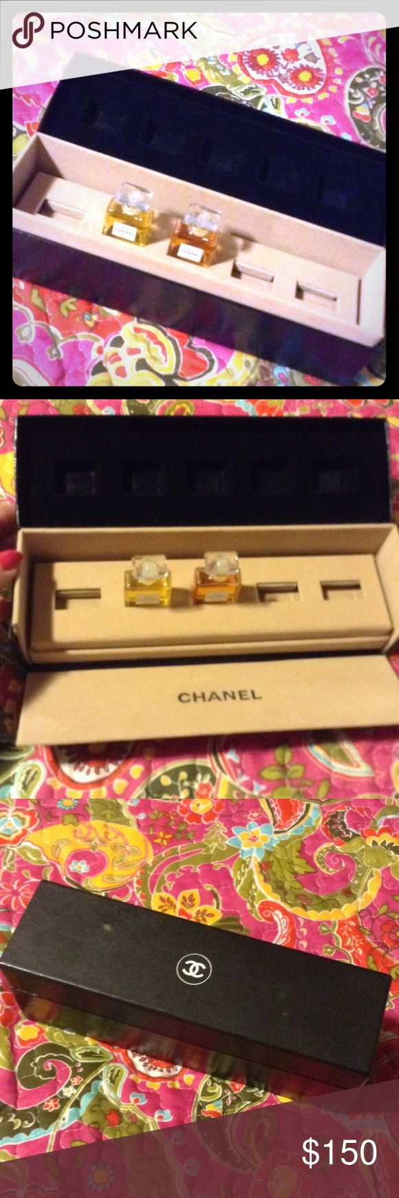 Chanel gift set, vintage Chanel gift set, vintage...this is old so the perfume probably not good but the box is super cool. It was one of my favorite presentations over many years of buying the gift sets. Chanel Other