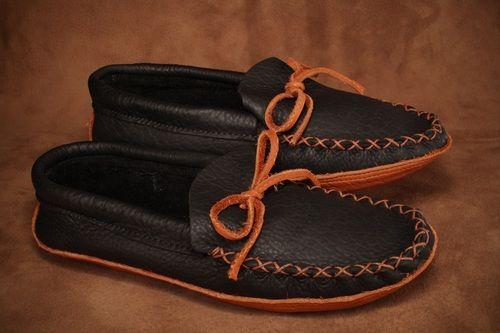 Black moose hide with a buffalo sole. #leather #Canada #handmade #rockwood #ontario #like #daily #fashion #hidesinhand #moose #buffalo #sole #mens #fashion