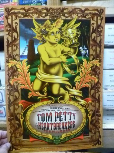 1997 Tom Petty The Heartbreakers Fillmore SF Golden Baby Concert Poster | eBay