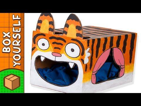 Cardboard Tiger Cat House
