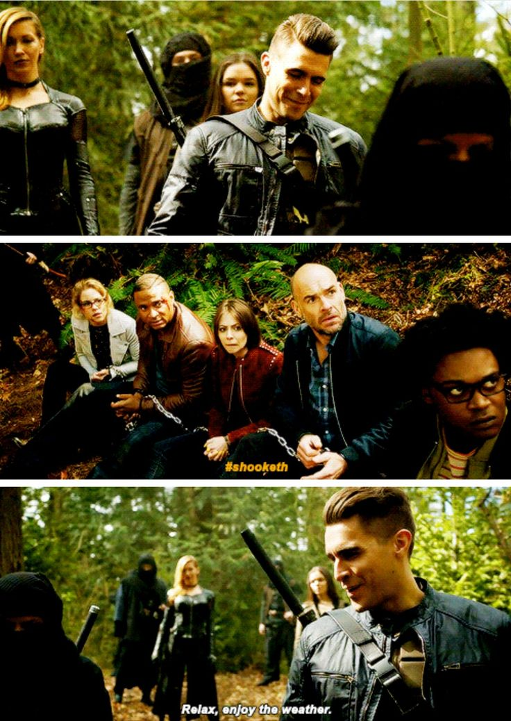 """""""Relax, enjoy the weather"""" - Adrian, Evelyn, Black Siren, Felicity, John, Curtis, Thea and Quentin #Arrow"""
