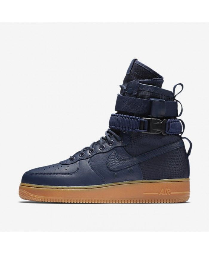 7027b9817534 Nike SF Air Force 1 Midnight Navy Black Gum Medium Brown Midnight Navy  864024-400