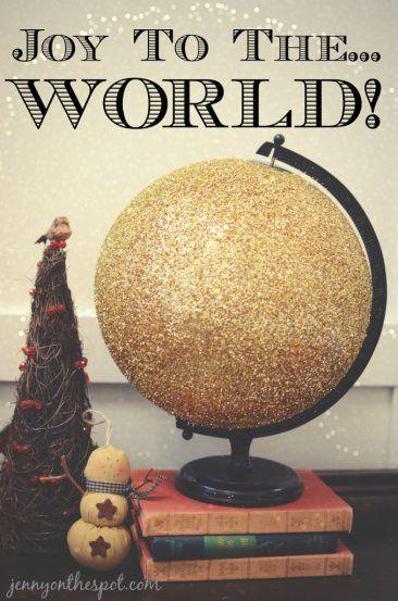 DIY Glittered Globe via @Jenny On The Spot