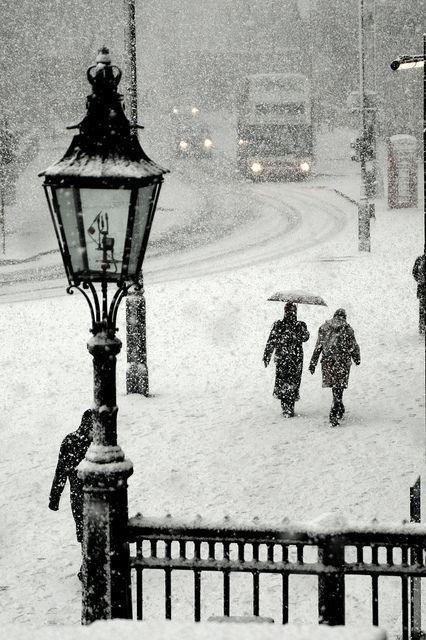 día nevado...: