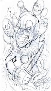Clown Monsters Tattoo Design Art Flash Pictures Images Gallery