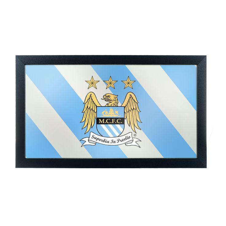 Trademark Premier League Manchester City Framed Logo Mirror