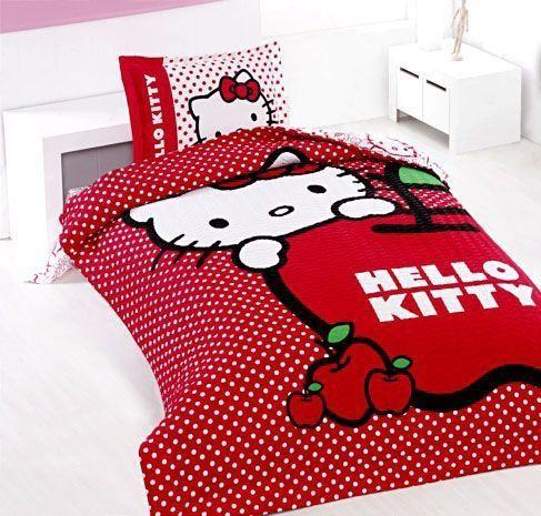 Altınbaşak Hello Kitty Genç Uyku Seti - Kırmızı ::