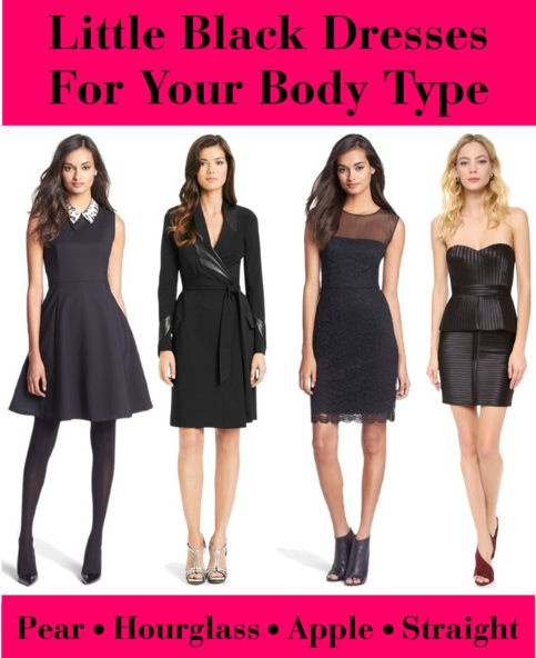 Little Black Dresses For Your Body Type - How to choose the perfect LBD for your shape. #fashion #styletips