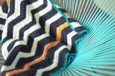 ma couverture chevron au crochet (tuto inside)