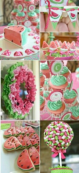 ADORABLE Watermelon Themed Girl Birthday Party With TONS Of Cute IDEAS Would Be Good For Any Summer Not Just Kids