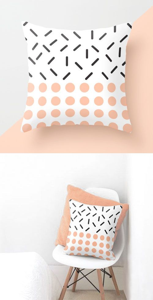 Minimal and simple geometric elements. Perfect for Scandinavian home. Clean and modern pattern.