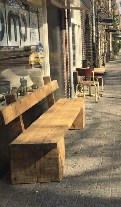 Stoere houten bank van customthijs made by customthijs pinterest - Bank terras hout ...