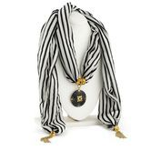 Sukkhi Gleaming Gold Plated Scarf Necklace With Chain For Women