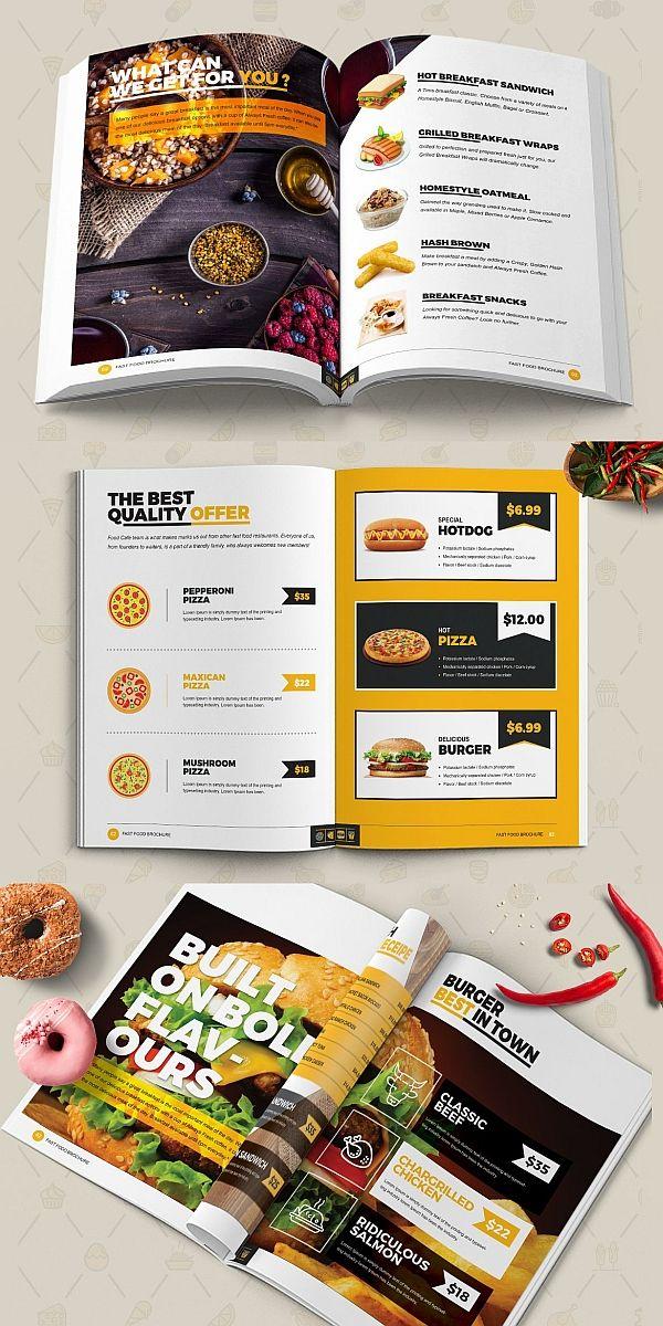 Fast Food Restaurant Brochure Brochure Templates Pinterest