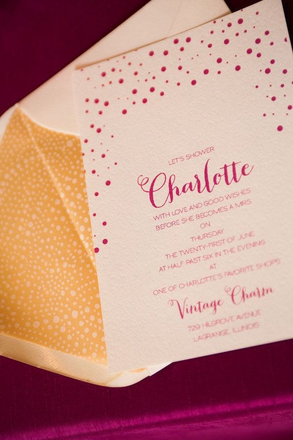 Bridal Shower Invitation by Courtney Callahan Paper | Photography:dennisleephoto.com