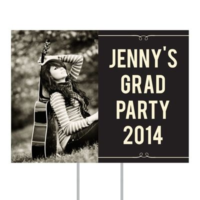 Graduation Party Decorations -- She's Invited Yard Sign