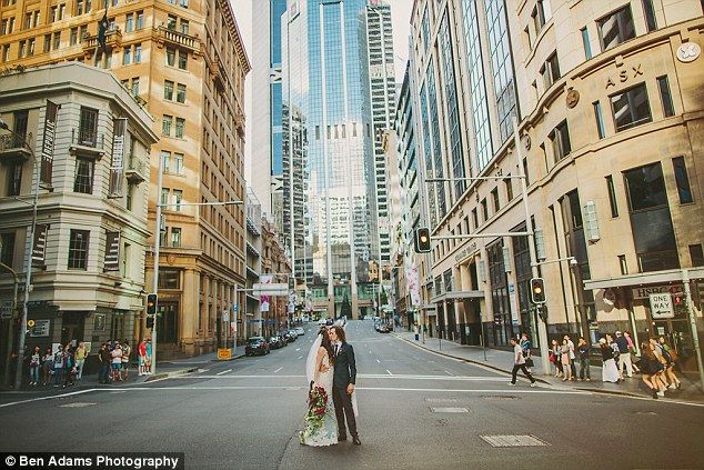 Annie and Isaac (pictured) got to have photos within the streets of Sydney...