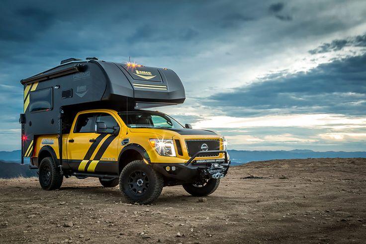 #Nissan Titan #Camper Rig, http://www.truckcampermagazine.com/news/rule-breaker-hellwig-lance-rig-sema-2016/