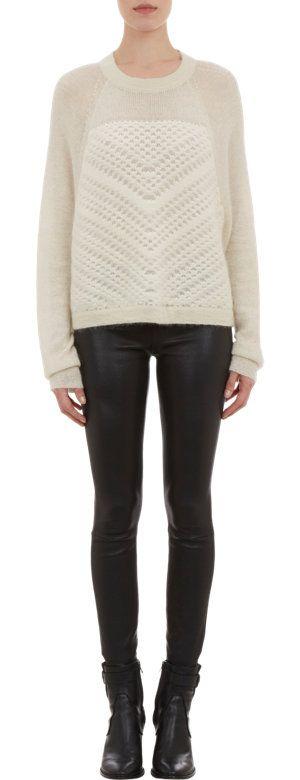 Helmut Lang Macramé-Detailed Sweater at Barneys.com