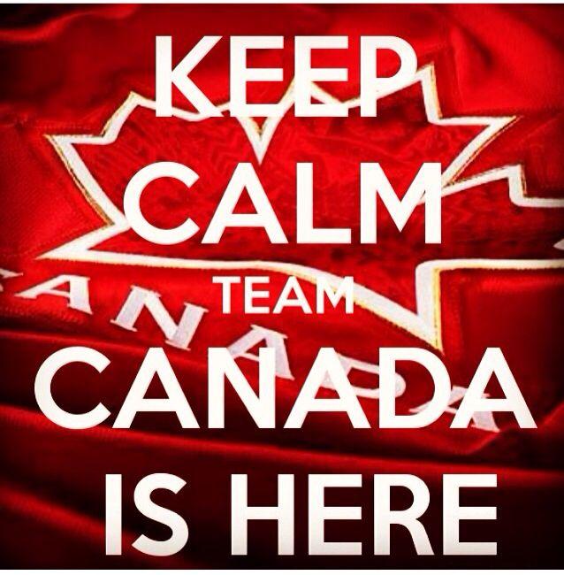 Keep Calm Team Canada is Here! 2014 Winter Olympics Sochi Russia