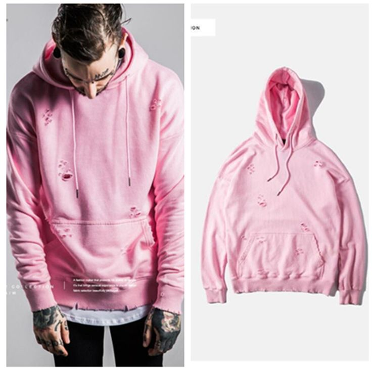 Find More Hoodies U0026 Sweatshirts Information About Brand Yeezus Kanye Style Pink Color Man Hoodie ...