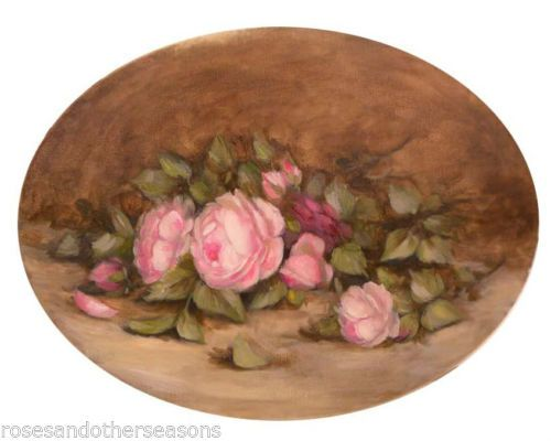 tableau hst jete de roses anciennes nature morte still life h flont fleurs ebay poster fiori. Black Bedroom Furniture Sets. Home Design Ideas