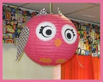 Owl Party - Owl Lanterns! Could DIY So Easily!