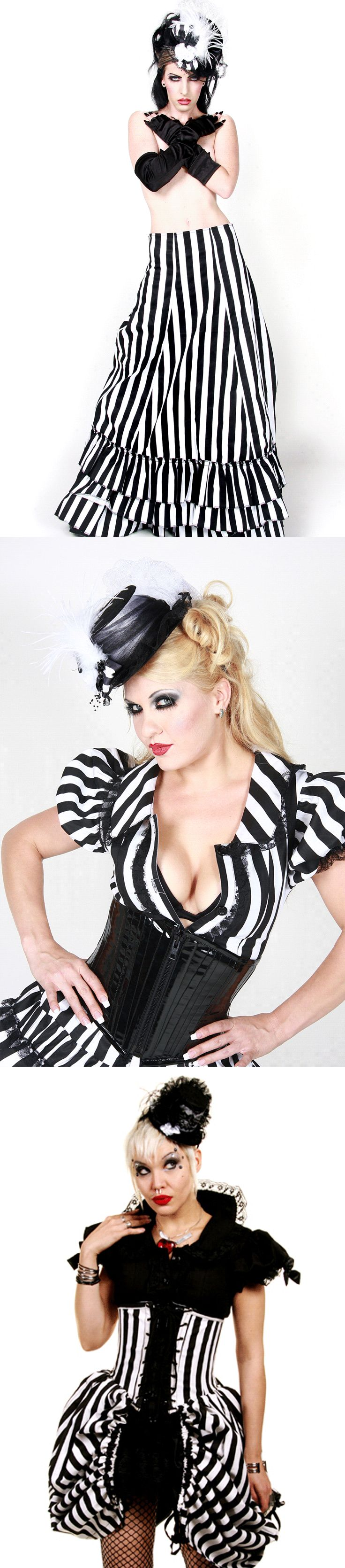 Shop burlesque Halloween corsets and skirts at RebelsMarket!