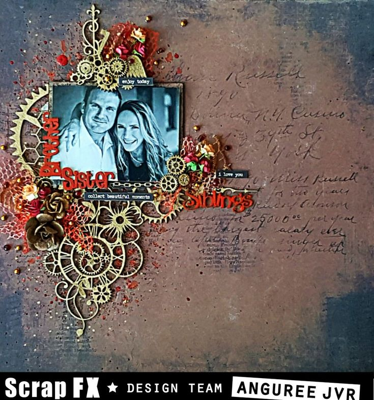 Layout features Scrap FX products: Botanical Clockworks Mechanical Spike B Wing Cogs micro Accessory Cogs Steampunk Corner B – Clock Hand Relatives Theme Pack www.scrapfx.com.au