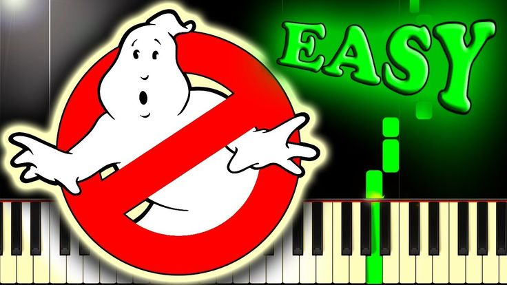 GHOSTBUSTERS! - THEME SONG - Easy Piano Tutorial