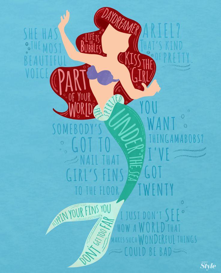 Ariel Typography   Fashion   Disney Style