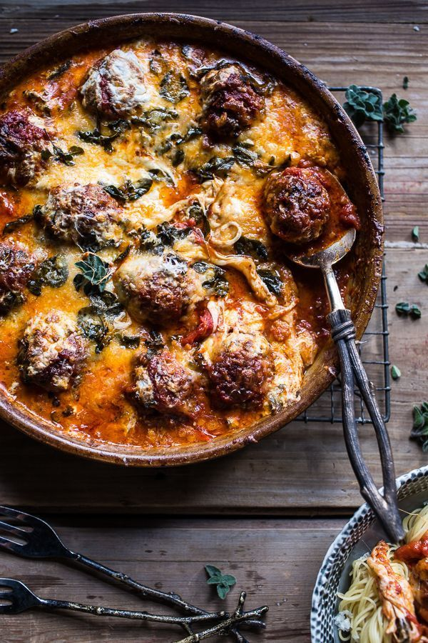 Simple Baked Italian Oregano Meatballs, one pan - no frying, no completely messy stove top and no broken, crumbly meatballs
