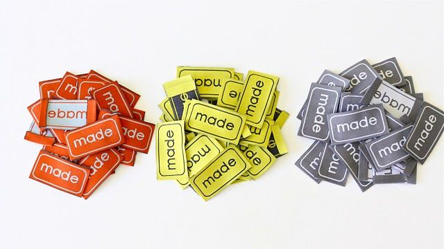 Fabric labels for homemade products. What kind to get and where to buy them!