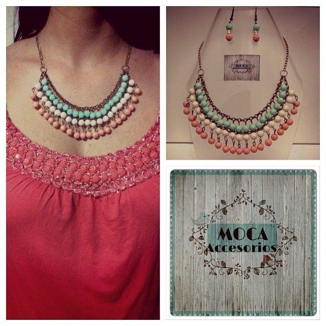 Collar Moca 100% #hechoamano #design #trend #colombia #madeincolombia #accesoriosdivinos #mocaaccesorioscolombia #collar #pectoral